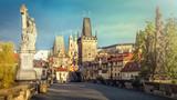 Prague, Charles Bridge in the morning; Czech Republic - 102330725