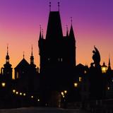 Prague, Charles Bridge in the morning; Czech Republic - 102330737