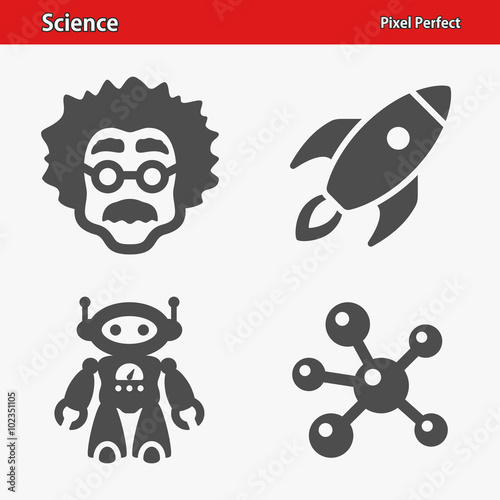 Science Icons. Professional, pixel perfect icons optimized for both large and small resolutions. EPS 8 format.