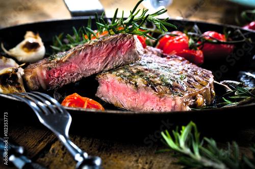 Fototapeta Steak Gericht
