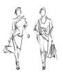 Fashion model. Sketch.