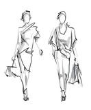 Fashion model. Sketch. - 102355937