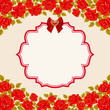 Vintage background with roses. Valentines day greeting card template