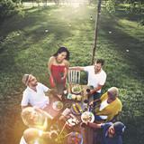 Friends Friendship Outdoor Dining People Concept - Fine Art prints