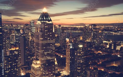 Foto op Aluminium New York New York City skyline at night