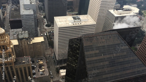 Foto op Plexiglas New York TAXI 4K UltraHD Aerial of the Houston city center