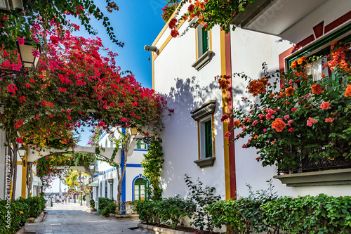 Foto op Aluminium Canarische Eilanden Puerto de Mogan, a beautiful, romantic town on Gran Canaria, Spain