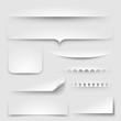 Paper shadows, eps10 vector