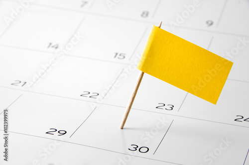 Poster Flag the event day or deadline on calendar 2016