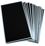 Stack of lcd and tft panels isolated on white background
