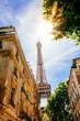 Street of Paris in summer