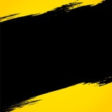 Black stripe on yellow background