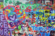 wall sprayed with graffiti