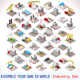 Fototapety Game Set 06 Building Isometric