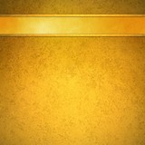 Fototapety elegant gold background with gold ribbon header bar and gold trim lines, abstract formal background layout with blank copyspace for adding your own text or title, website background template design