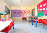Fototapety inside of the kindergarten classroom
