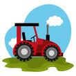 Kleiner Traktorist - Fototapete