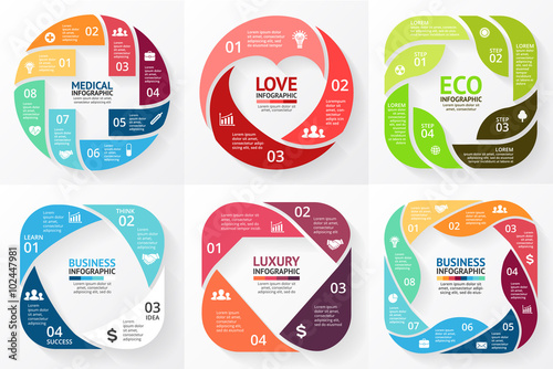 Vector circle infographics set cycle diagram graph business cycle diagram graph business presentation chart medical ccuart Gallery