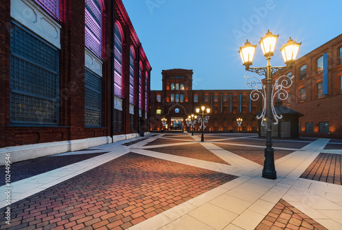 Fototapety, obrazy : Shopping Mall in Lodz in the evening, Poland
