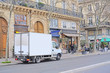 Paris, France, February 6, 2016: truck on a parking in Paris, France