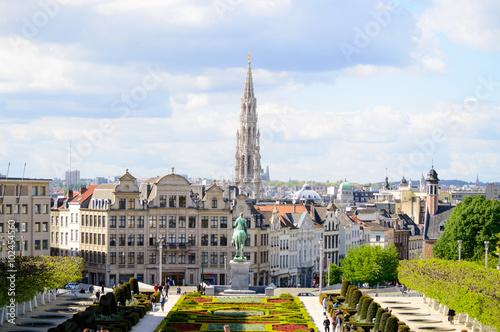 In de dag Brussel vistas de bruselas un dia de primavera