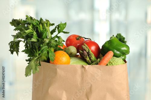 Fresh Produce in Paper Bag
