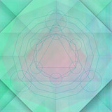 Sacred geometry green background