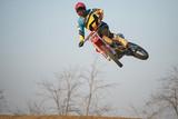 Fototapety Motocross Rider Jump
