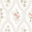 seamless floral pattern with lace and  floral bouquet