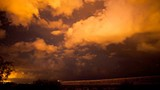 A dramatic time lapse of a night monsoon storm in the desert