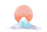 富士山、日の出