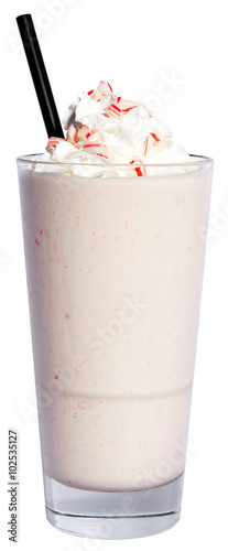 Foto op Plexiglas Milkshake White Chocolate Candy Cane Crush