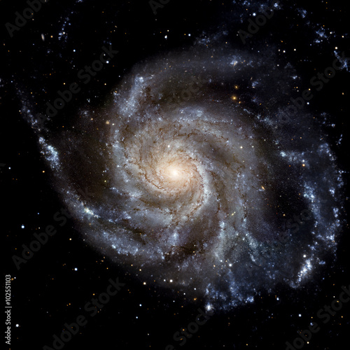 Fototapeta View image of Galaxy system isolated Elements of this image furnished by NASA