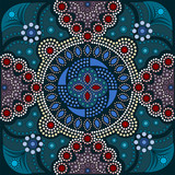 Aboriginal style of dot painting and power of mandala 16-1a