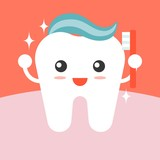 Fototapety Vector tooth cleaning itself with toothpaste , flat design