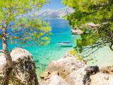 beautiful coast in Brela on Makarska Riviera, Dalmatia, Croatia - 102570364
