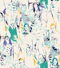 Happy młodych ludzi Streszczenie szwu.