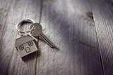 House key on keychai...