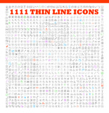 Fototapety thin line icons exclusive XXL icons set
