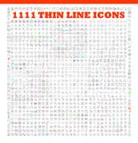 thin line icons exclusive XXL icons set - 102585706