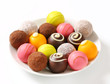 Assorted chocolate truffles and pralines