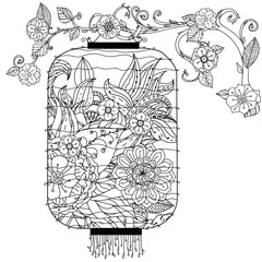 Chinese lantern zentagle