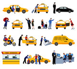 Fototapety Set Of Taxi Service Icons