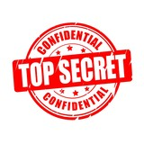Top secret, confidential vector stamp