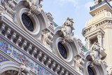 MONTE-CARLO, MONACO, on JANUARY 10, 2016. Architectural details of the building of a casino in Monte-Carlo.