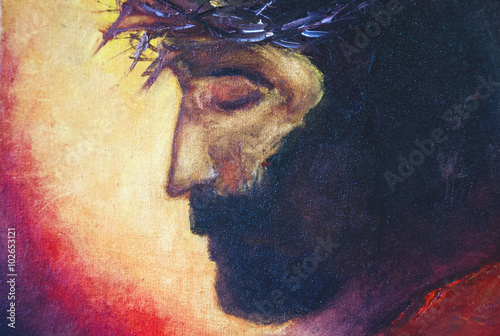 Jesus Christ oil painting Plakát