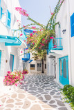 Fototapety Beautiful architecture with santorini and greece style
