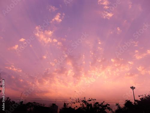 Aluminium sunset sky light
