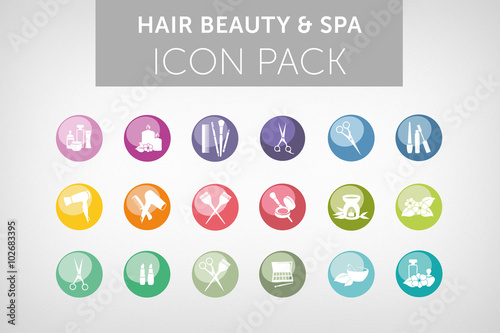 Hair beauty and spa icon set vol.4