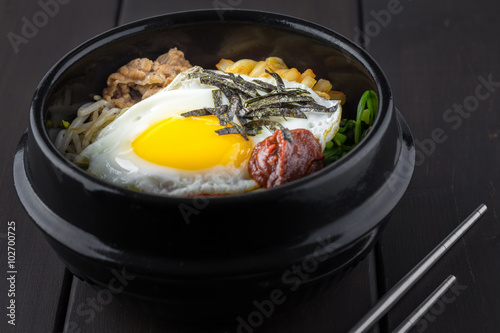 Poster Korean bibimbap
